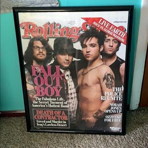 Rolling Stones poster, Fall Out Boy